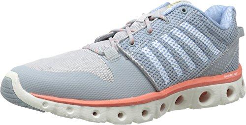 K-Swiss Women's X Lite Cross-Training Shoe, Quarry/Bright White/Living Coral, 8 M US