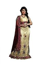 Vidhi Fashions Women's Net Lehenga Choli - NET5393_Beige