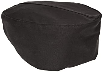 Chef Revival H008 QC Lite Poly Cotton Blend Pill Box Hat, Regular, Black