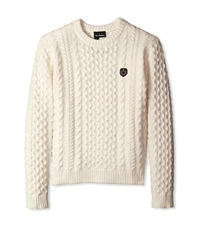 The Kooples Sport Men's Cable Knit Sweater with Crest