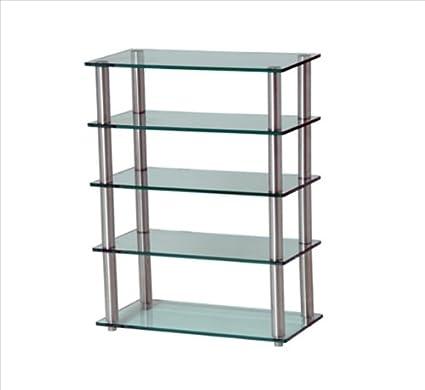 GEM 5shelf profond transparent/Hifi meuble 600 x 300 mm