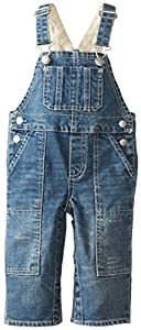 Hatley Infant Boys Dungaree-Denim - Pantalones de peto para bebés