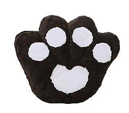 Smile YKK Cartoon Bear Paw Shape Cushion Throw Pillow-65cm Black