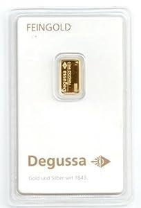 degussa goldbarren 1g anlagegold feingold 999 1000 gold geblistert ideal auch zum verschenken zu. Black Bedroom Furniture Sets. Home Design Ideas