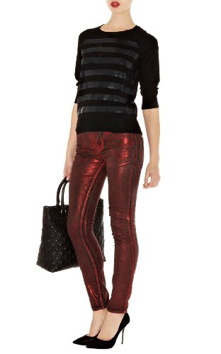 Stripe Sequin Knit Sweater