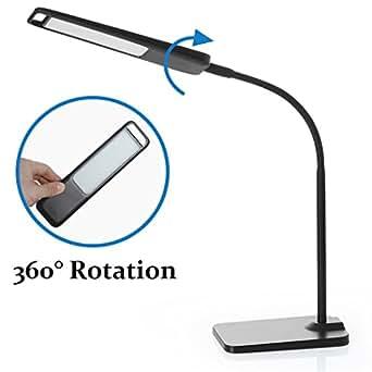 tube desk lamp with usb charging port 360 rotation pluggable light. Black Bedroom Furniture Sets. Home Design Ideas