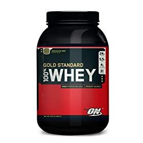 Optimum Nutrition 100% Whey Gold Standard, Chocolate Mint, 2 Pound