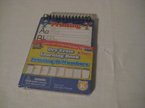 Dry Erase Learning Book Printing and Numbers (Qty 1)