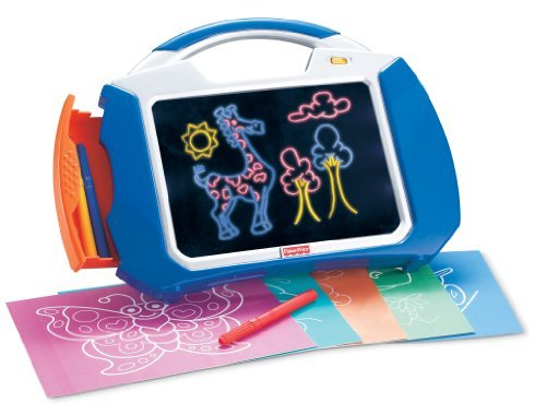 Doodle Pro Glow Allows Fun & Clean Drawing - Fisher Price KidTough Doodle Pro Glow