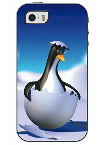 Ouo Unique Fashion Design High Quality Slim Fit Iphone 5 5S Hard Shell Case For Girls With Print Of Cute Penguin Baby front-475963