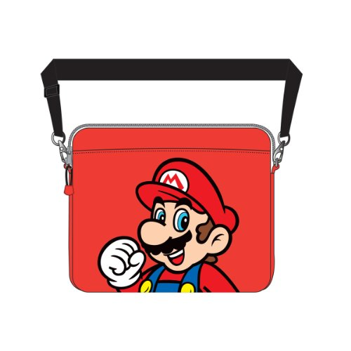Nintendo - Red Mario Print Laptop Messenger Bag