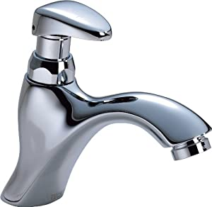 Delta Commercial 87T111 87T Single Hole Metering Slow-Close Lavatory Faucet, Chrome