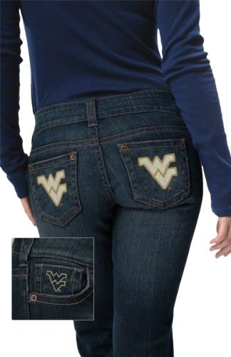 West Virginia Mountaineers Women's Denim Jeans - by Alyssa Milano at Amazon.com