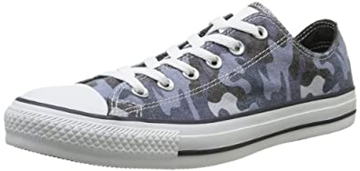 CONVERSE Unisex-Adult Chuck Taylor All Star Camo Print Ox Trainers 309090-55-53 Camouflage Grey 3.5 UK, 36 EU