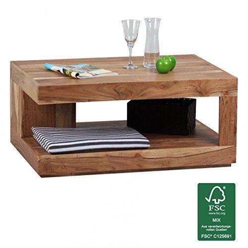 FineBuy-Couchtisch-Massiv-Holz-Akazie-90-cm-breit-Wohnzimmer-Tisch-Design-Natur-Produkt-Landhaus-Stil-Beistelltisch-Wohnzimmermbel-Unikat-modern-Massivholzmbel-Echtholz-rechteckig-braun