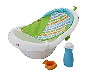 fisher price 4 in 1 grow with me infant newborn baby bath tub white plug for. Black Bedroom Furniture Sets. Home Design Ideas