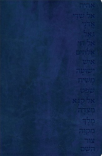 Holy Bible: God's Word Names of God Bible, Midnight Blue, Hebrew Name Design, Duravella