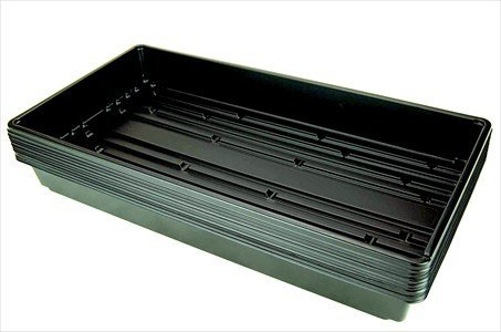 """10 Plant Growing Trays (No Drain Holes) - 20"""" x 10"""" - Perfect Garden Seed Starter Grow Trays: For Seedlings, Indoor Gardening, Growing Microgreens, Wheatgrass & More - Soil or Hydroponic primary"""