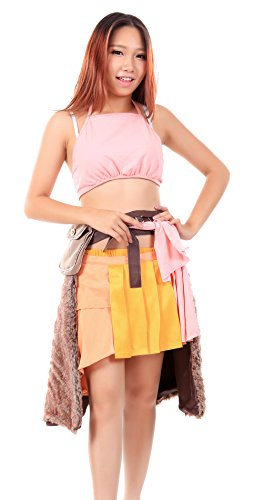 [WS_COS Final Fantasy XIII Cosplay Costume Oerba Dia Vanille Outfit Set XL] (Vanille Cosplay Costume)