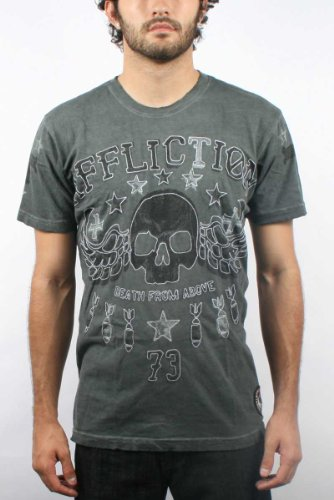 Affliction - Mens Above T-Shirt in Charcoal, Size: Small, Color: Charcoal