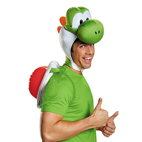 Disguise Men's Yoshi Costume Accessory Kit - Adult, Green, One Size