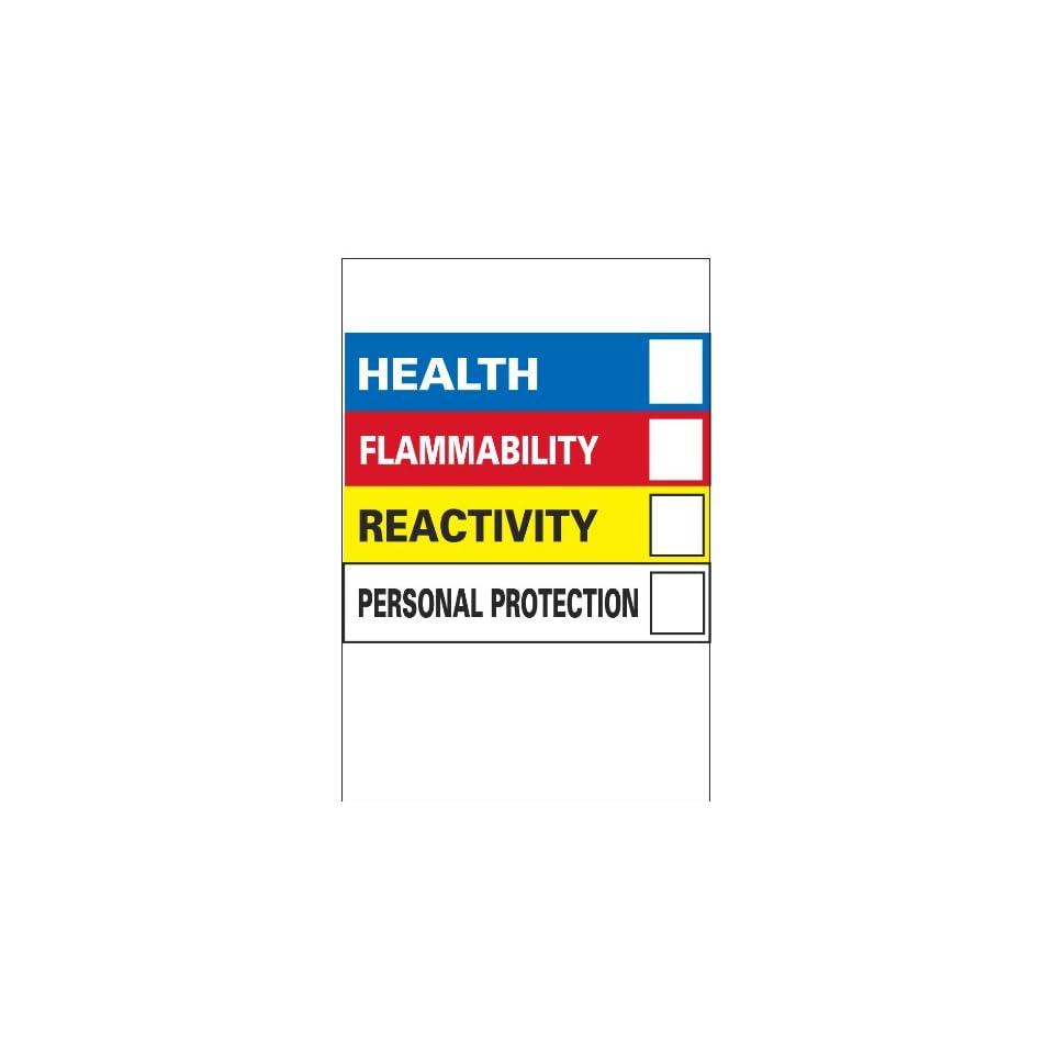 Vinyl Hazardous Materials Warning Label, 4w X 6h