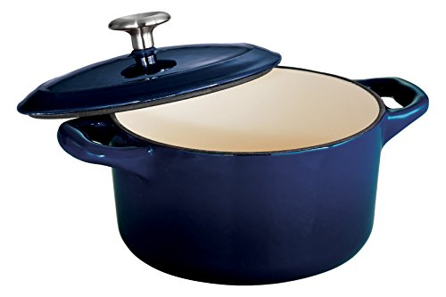 Tramontina Enameled Cast Iron Covered Small Cocotte, 24-Ounce, Gradated Cobalt (Small Cast Iron Oven compare prices)