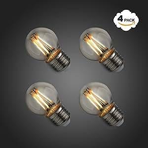 princeway 4x pack g45 4w led filament light bulb with e27. Black Bedroom Furniture Sets. Home Design Ideas