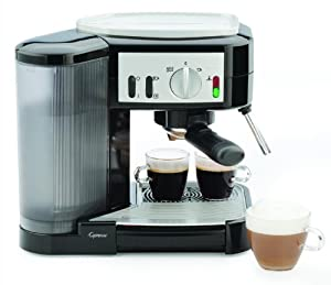 Capresso 1050-Watt Pump Espresso and Cappuccino Machine, Black Silver by Capresso