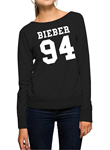 Bieber 94 Felpa Girls Nero-M