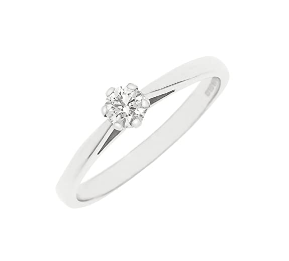 Kareco 9ct White Gold Ladies 1/2 Carat Diamond Solitare Ring