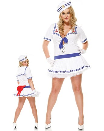 3PC Sailor Sweetie Sexy Plus Size Holiday Costumes