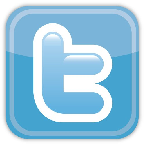 Twitter sticker decal 4″ x 4″