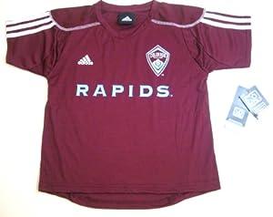 MLS Adidas Colorado Rapids Home Call Up Kids Medium Maroon Jersey (Size 5 6) by adidas