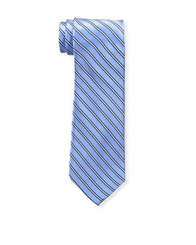Bruno Piattelli Men's Classic Stripe Tie, Lt. Blue