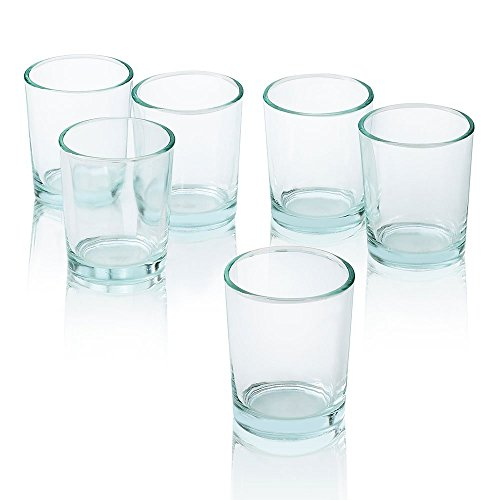 Clear Glass Round Votive Candle Holders Set of 12 (Cheap Glass Cups compare prices)