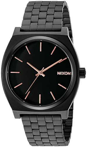 nixon-mens-a045957-time-teller-black-stainless-steel-bracelet-watch