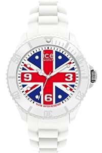 ICE-Watch - Montre Mixte - Quartz Analogique - Ice-World - United Kingdom - Small - Cadran Multicolore - Bracelet Silicone Blanc - WO.UK.S.S.12