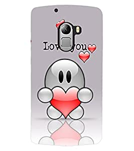 ColourCraft Love Design Back Case Cover for LENOVO VIBE K4 NOTE