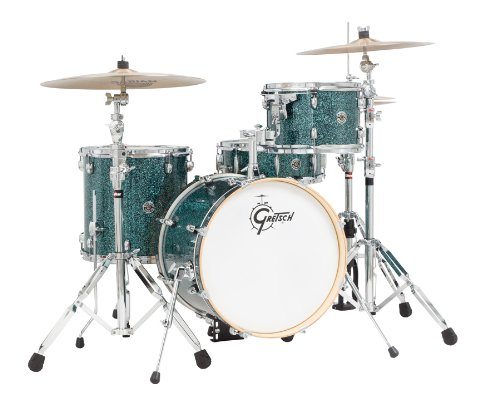 Gretsch Catalina Jazz 4 Piece Drum Kit W/ Free Padded Bags-Ocean Twilight