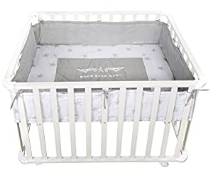 roba Rock Star Baby 2 0241W RS2 Playpen 75 x 100 cm White from roba