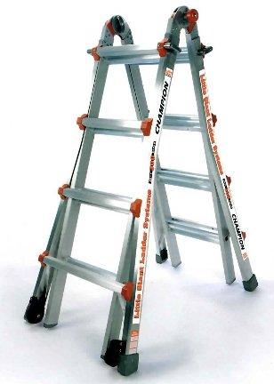 17 1A Little Giant Ladder Classic Champ Bundle - Includes 4 Accessories: Work Platform, Leg Leveler, 4ft Master Ladder Lock, & Wheels