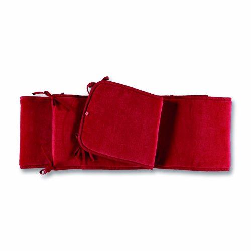 Baby Boum 'Polka Rose' Range Playpen & Cot Bumper (Raspberry Red, 28 x 400cm)