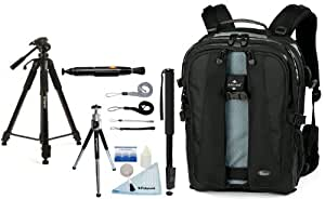 Lowepro Vertex 200 AW SLR Camera/Notebook Backpack + Accessory Kit for Canon EOS Rebel T3/T3i/T2i/T1i/EOS 1D MARK III/1D MARK IV/1DS MARK II/5D/7D/20D/30D/40D/50D/60D/XS/Xsi/Xti SLR Cameras