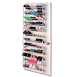 Over The Shoe Rack With 36 Pairs Capacity.