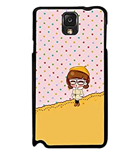 Fuson Premium 2D Back Case Cover Cute baby With white Background Degined For Samsung Galaxy Note 3 Neo N7505