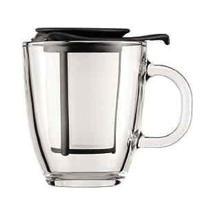 Bodum K11239-01 Yoyo Set Tasse à Thé Filtre en Nylon 0,3 L Noir