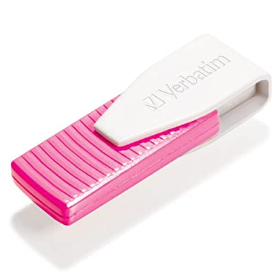 Verbatim 16 GB Store 'n' Go Swivel USB 2.0 Flash Drive, Hot Pink 49813