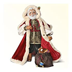 Wooden St. Nicholas Doll: Santa Decoration by The Ashton-Drake Galleries
