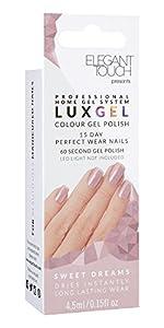 Elegant Touch Lux Gel, Sweet Dreams 4.5 ml: Amazon.co.uk: Beauty